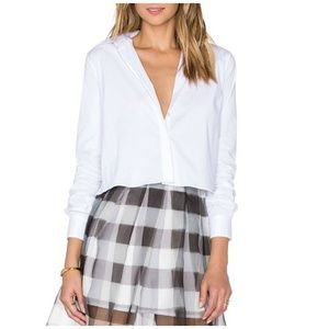 Kendall + Kylie Open Back Button Front Cotton Top